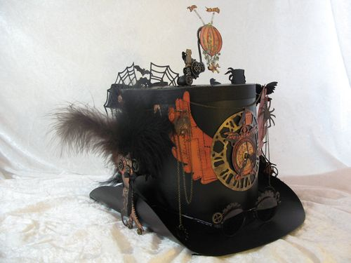 STEAMPUNK SPELLS-GRAPHIC 45-ALBUM-TOP HAT-ANNESPAPERCREATIONS-ANNE ROSTAD- altered art, Halloween, tutotial, video, sneak peek