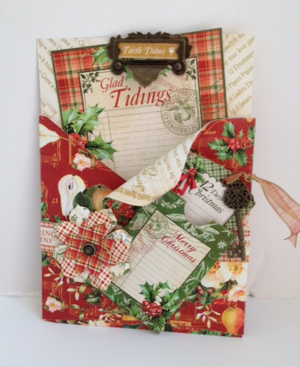 Graphic 45 Twelve Days of Christmas gift altered art CHA Summer 2013 sneak peek Diane's workshop card