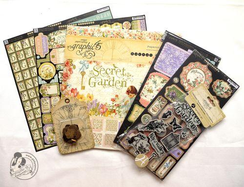 Graphic 45 blog prize contest Secret Garden