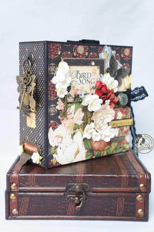Arlenecuevas_June2013_BIrdSong_MiniBook_mini album summer spring gift memories