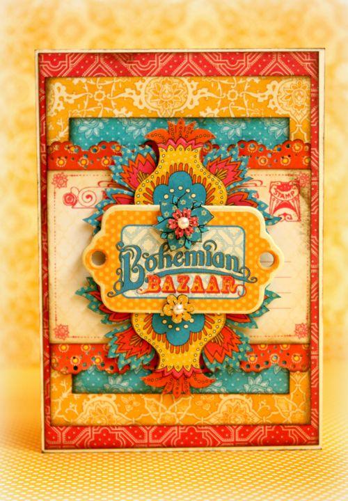 Bohemian Bazaar card, Romy Veul, Graphic 45, gift
