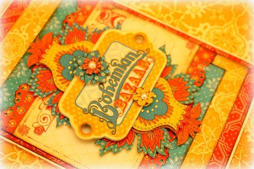 Bohemian Bazaar card - detail 2