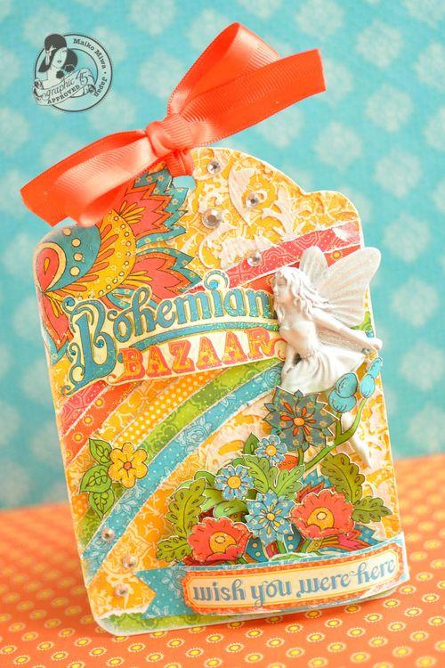 Maiko Miwa Bohemian Bazaar Tag Graphic 45