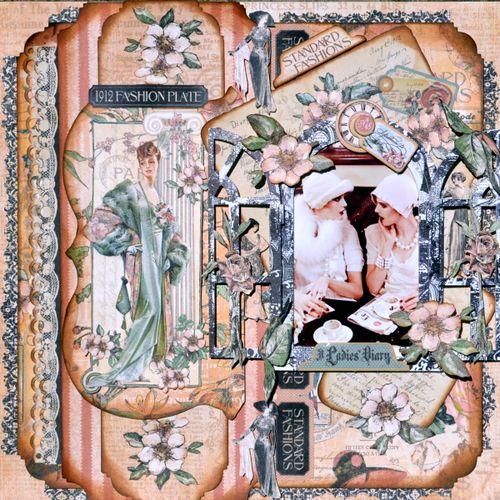A Ladies Diary' layout Graphic 45 Ning Karen Zueger