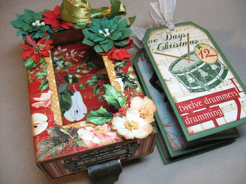12-Days-of-Christmas-Matchbox-Graphic45-Annette-Green-gift, tag, mini, altered art