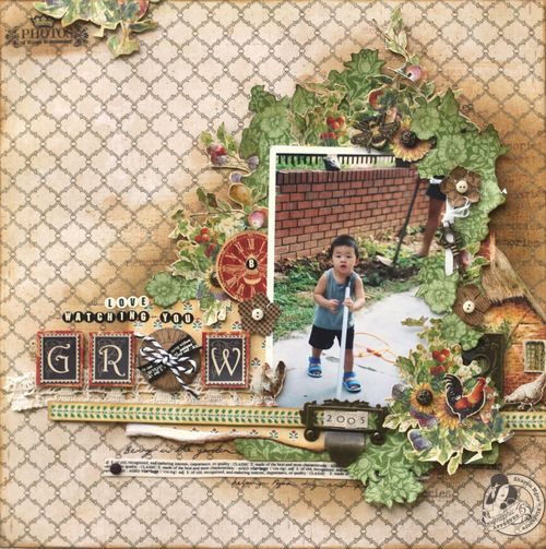 Graphic45 Sharon Ngoo Grow Layout French Country