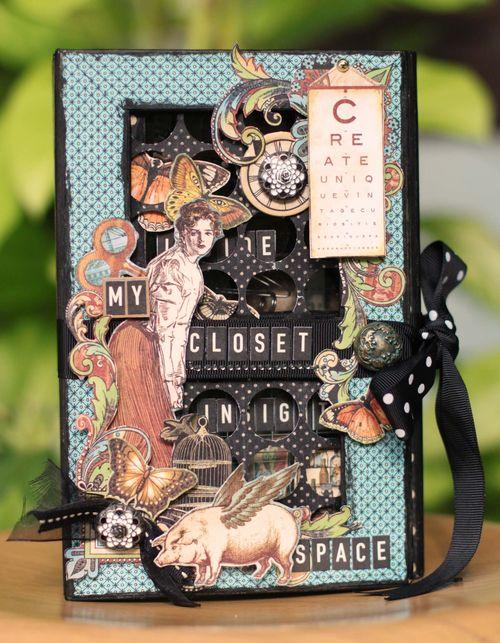 Olde Curiosity Shoppe altered box 5x8 Sharon Ngoo Graphic 45