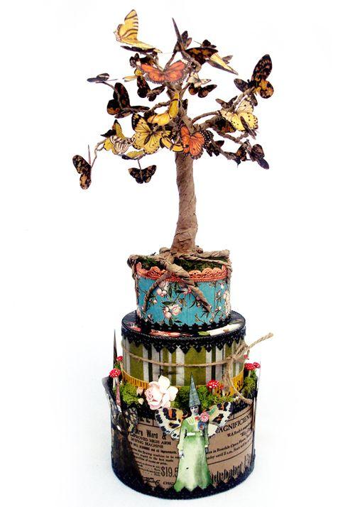Paper Tree Fussy Cut Nichola Battilana Graphic 45 Bird Song Olde Curiosity Shoppe