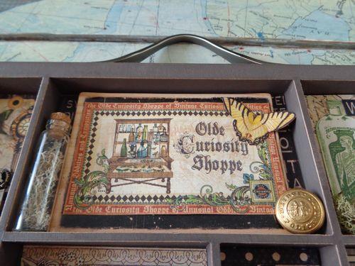 Olde Curiosity Shoppe Printers Tray Gift Rhea Freitag Grpahic 45