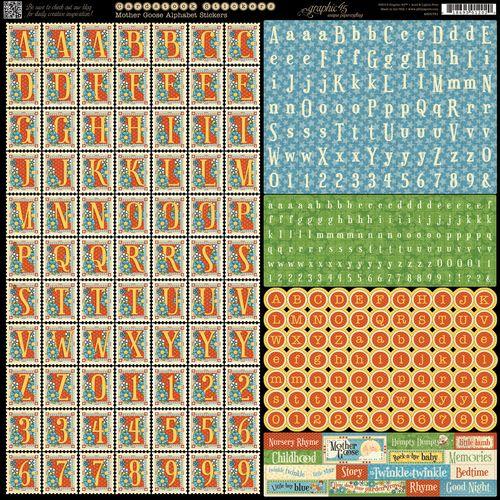 Mother Goose Graphic 45 Sneak Peek Summer CHA 2013 Stickers-alphabet