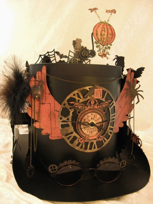 STEAMPUNK SPELLS-GRAPHIC 45-ALBUM-TOP HAT-ANNESPAPERCREATIONS-ANNE ROSTAD- 11
