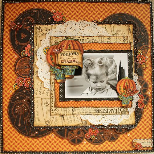 Steampunk Spells lay-out, Graphic 45, Romy Veul