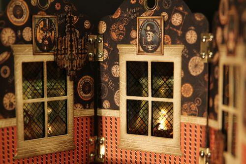Graphic 45 Olga Struk Steampunk Spells lantern home decor halloween