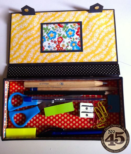 G45 Sept DT Project 2 Mother Goose Altered Pencil Case Clare Charvill Pic 9