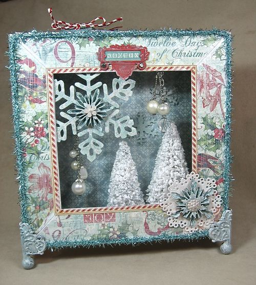 12 Days of Christmas 8x8 Matchbook Box holiday tutorial Annette Green home decor
