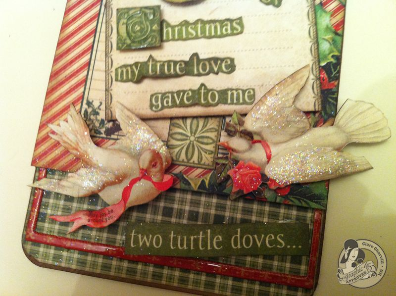 Clare Charvill CHA 2 12 Days of Christmas large tag Pic 4