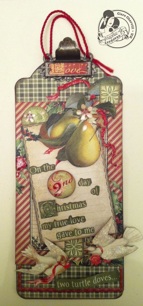 Clare Charvill CHA 2 12 Days of Christmas large tag Pic 1