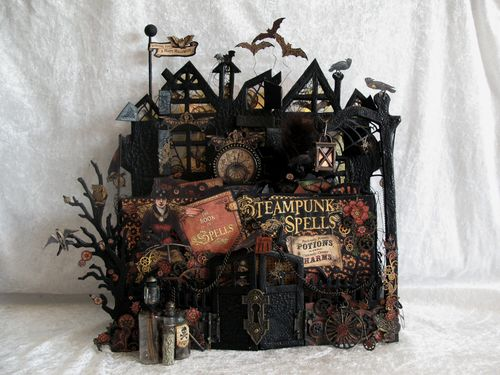 STEAMPUNK SPELLS-home decor, gift, GRAPHIC 45-TUTORIAL-STAND-MINI ALBUM-ENVELOPE-ANNE ROSTAD-ANNESPAPERCREATIONS- 1 (2)