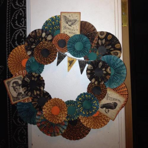 Steampunk Spells wreath Graphic 45 Facebook Jenn Connell