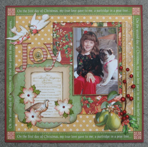 12 Days of Christmas layout Graphic 45 Annette Green