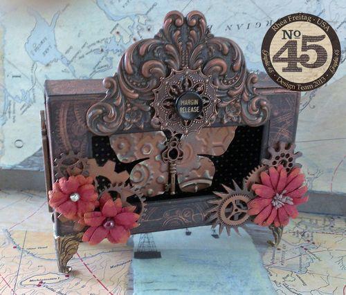 Steampunk_Butterfly_Box_Rhea_Freitag_Graphic 45, Petaloo, Xyron, home decor