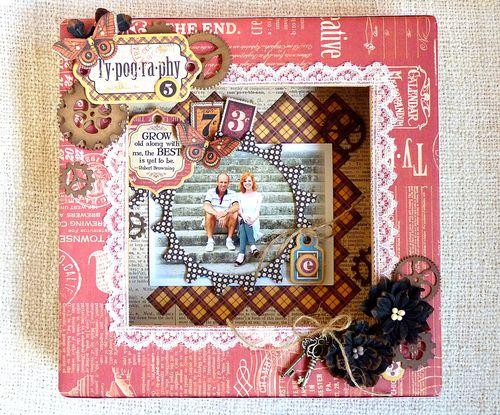 Typography Shadowbox, Graphic 45, Petaloo, Xyron, Romy Veul, gift, home decor, fall, autumn
