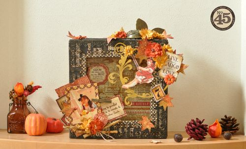 Graphic 45 Maiko Miwa Typhography Fall Decor, gift, petaloo, xyron, blog hop