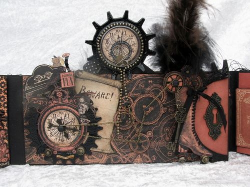STEAMPUNK SPELLS-GRAPHIC 45-TUTORIAL-ENVELOPE-MINI ALBUM-ENVELOPE-ANNE ROSTAD-ANNESPAPERCREATIONS- 9