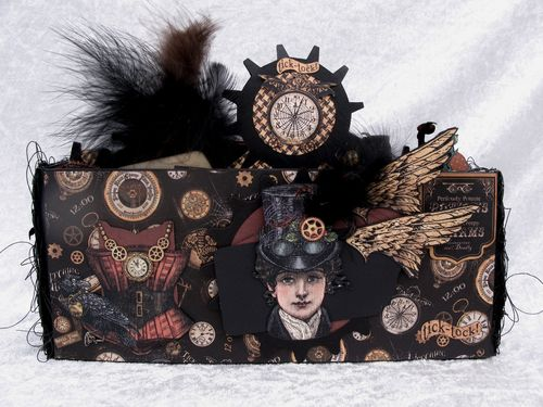 STEAMPUNK SPELLS-GRAPHIC 45-TUTORIAL-ENVELOPE-MINI ALBUM-ENVELOPE-ANNE ROSTAD-ANNESPAPERCREATIONS- 13