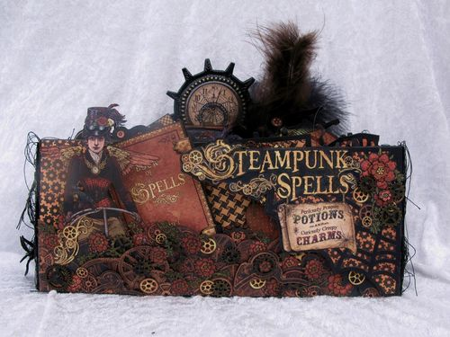 STEAMPUNK SPELLS-GRAPHIC 45-TUTORIAL-ENVELOPE-MINI ALBUM-ENVELOPE-ANNE ROSTAD-ANNESPAPERCREATIONS-Halloween