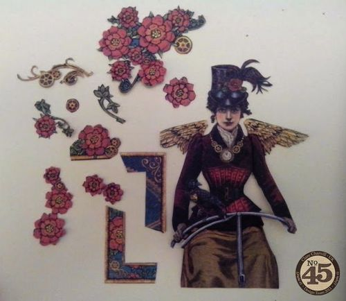 G45 Sept Project 1 Steampunk Spells Card Clare Charvill Pic 2