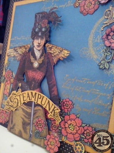 G45 Sept Project 1 Steampunk Spells Card Clare Charvill Pic 9