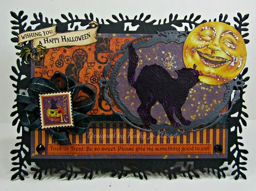 Graphic 45 Facebook Halloween Happy Haunting Card Kathy Jo