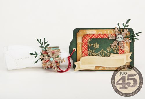 September-Napkin-Rings-Winter-Seating-12 Days of Christmas, holiday, tutorial, Graphic 45, budget