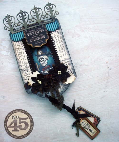 Graphic45_SteampunkSpells_peekabootag_NBattilana_tag, home decor, Halloween, gift