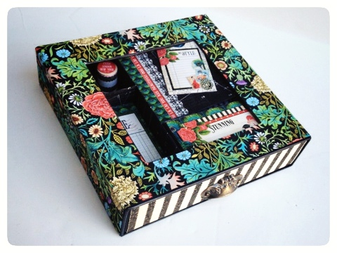 Graphic 45 Couture MAtchbook Box Sewing Altered Art Gift Sneak Peek