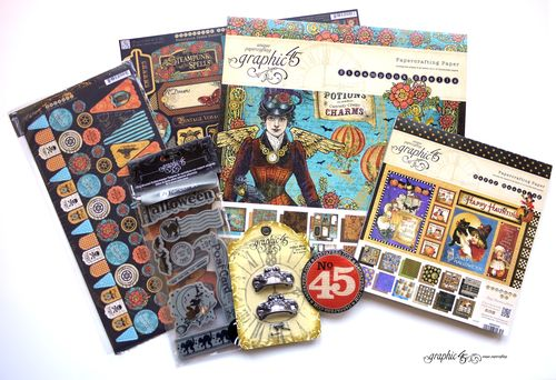 Steampunk Spells Happy Haunting Graphic 45 prize pack