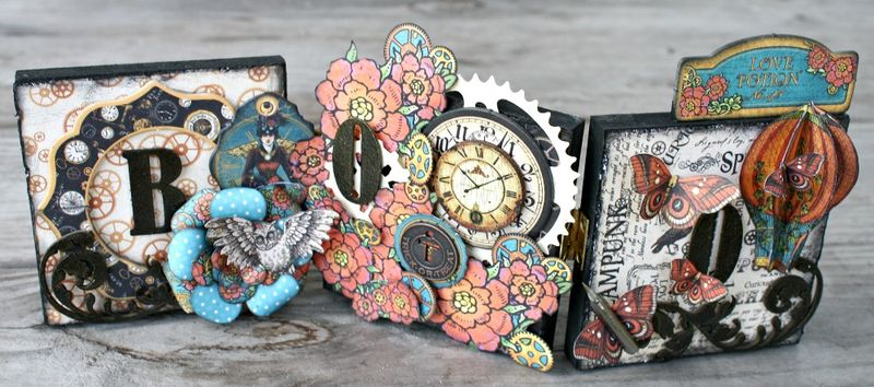 Steampunk-Spells-Altered-Boo-Blocks-Graphic-45-Miranda-Edney-Halloween, home decor, gift