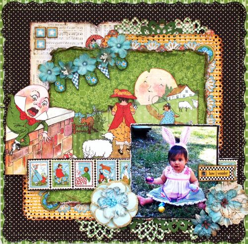 Mother goose layout graphic 45 maggi harding
