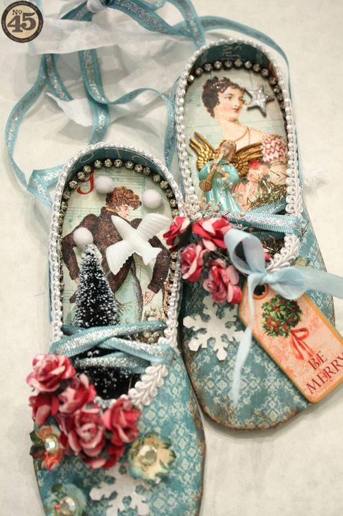 Denise_Hahn_Graphic_45_12_Days_of_Christmas_Ballet_Slippers - gift, home decor, tutorial