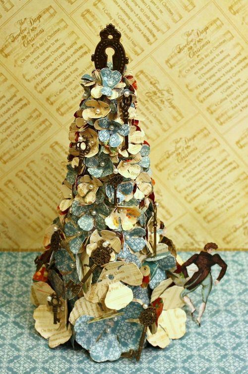 Floral-Christmas-Tree-Tutorial-Graphic-45-Miranda-Edney-home decor, gift, tutorial