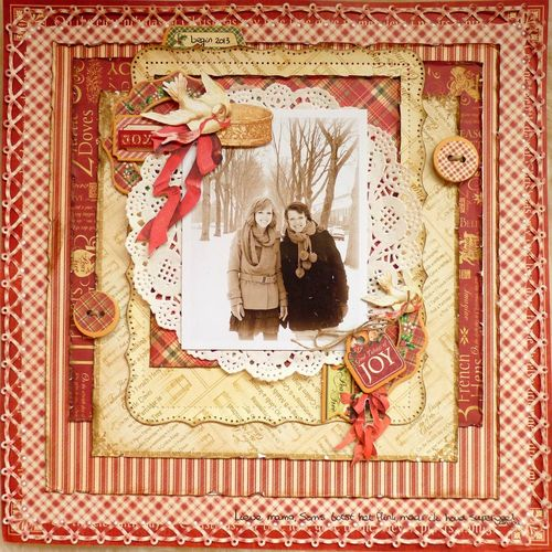 12 Days of Christmas layout Romy Veul Graphic 45