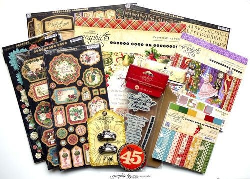 Graphic 45 prize contest win 12 Days of Christmas Place in Time Nutcracker Sweet Christmas Emporium