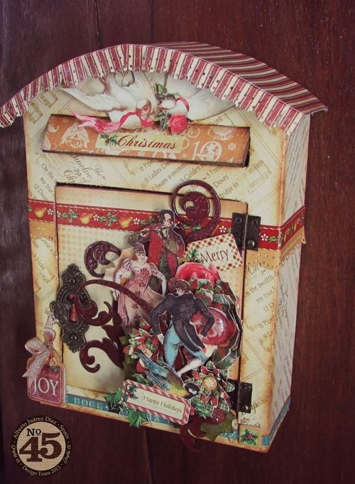 Graphic 45-12 days of Christmas-Mail-Box-Alberto Juarez, home decor, gift