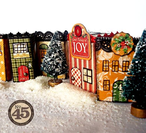 Graphic 45_12 Days of Christmas_holiday_town_Nichola Battilana, gift, family friend, home decor, tutorial