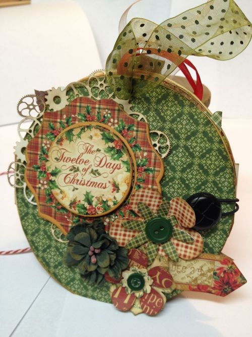 Graphic 45 Denise Johnson 12 Days of Christmas gift card holder tutorial mini