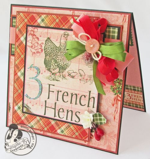Gloria Stengel 12 Days of Christmas Graphic 45 card tutorial gift