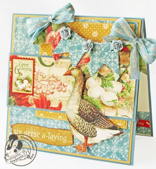 Gloria Stengel 12 Days of Christmas Graphic 45 holiday card tutorial