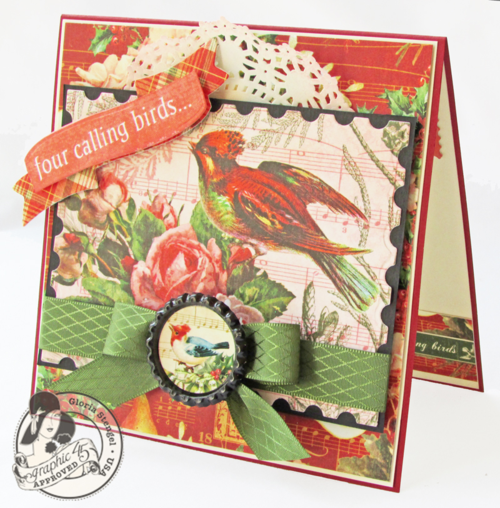 Graphic 45 Twelve Days of Christmas card gift tutorial Gloria Stengel