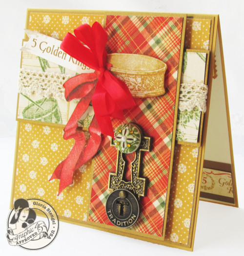 Graphic 45 Gloria Stengel card 12 Days of Christmas holiday gift tutorials